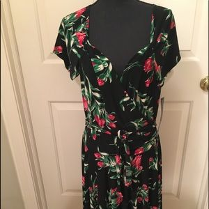 NWT AUTHENTIC KAMALKULTURE JERSEY FLORAL DRESS